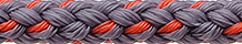 Dinghy Towing Line Grey-Orange